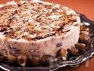 Рецепта Парфе торта с кестени, стафиди (сушени плодове), сладкарска сметана, бишкоти и ликьор амарето